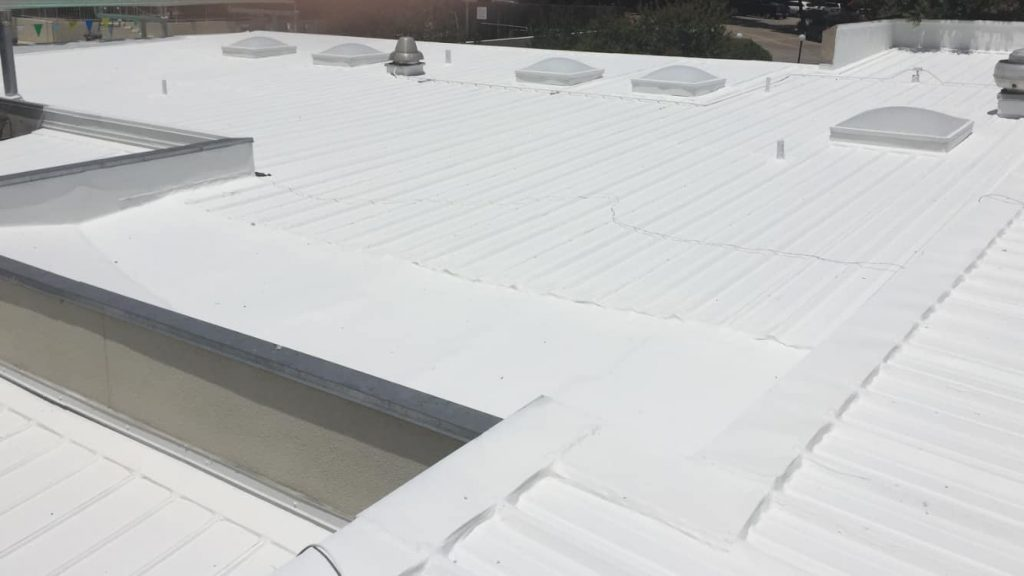 Completed Roof Coating Application