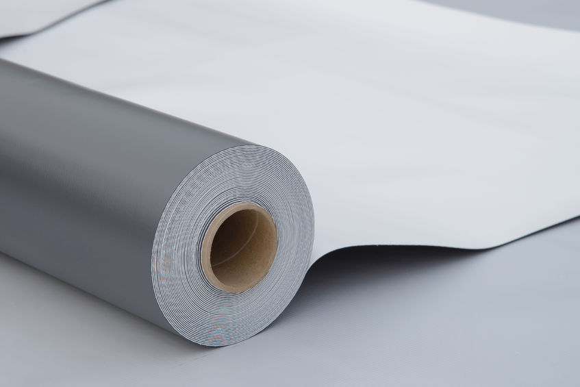 A Single Ply Roofing Roll.